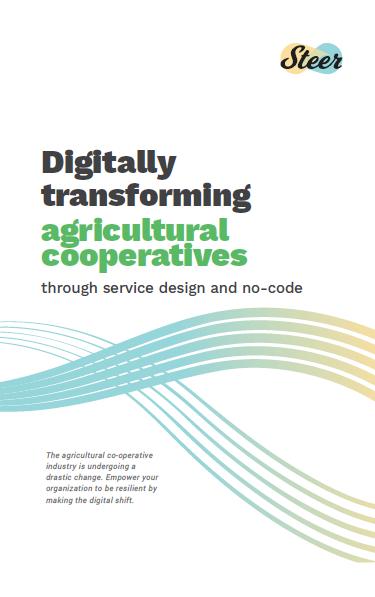 Digitally Transforming Agricultural Cooperatives through Service Design and No-Code