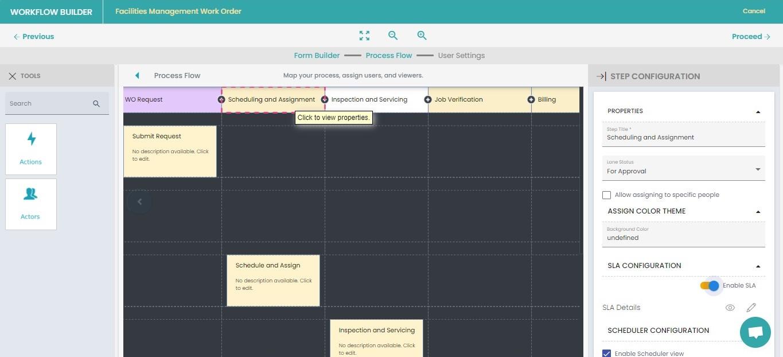 3. Workflow steps